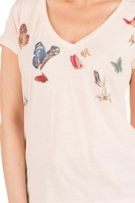 Leon & Harper | T-shirt Butterfly | lichtroze
