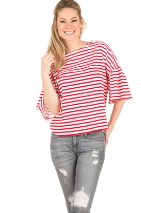 Leon & Harper | Top Tamy | wit/rood