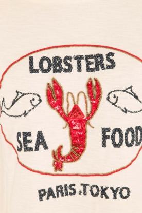 Leon & Harper | Trui Lobster | gebroken wit
