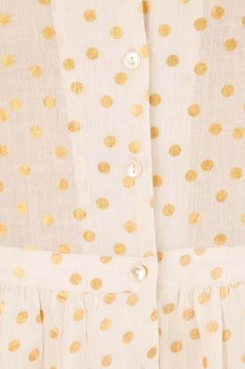 Leon & Harper | Midi blousejurk Roland | gebroken wit