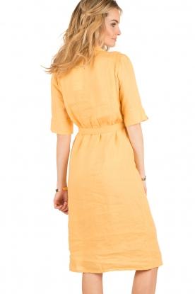 Hoss Intropia | Linnen blousejurk Macy | geel
