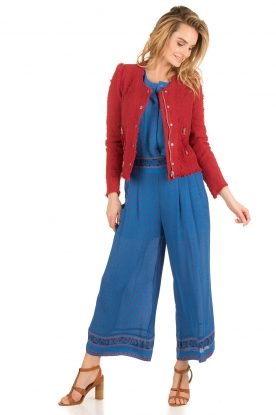 Hoss Intropia | Zijden broek Alita | blauw
