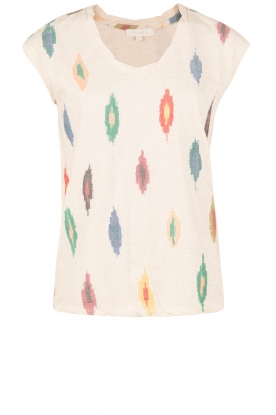 Hoss Intropia | T-shirt Ikat | naturel