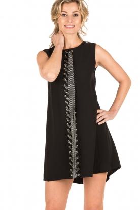 ELISABETTA FRANCHI | Lace-up jurk Lexa | zwart