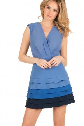 ELISABETTA FRANCHI | Ombre jurk Eliza | blauw