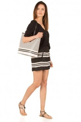 ELISABETTA FRANCHI | Shorts Mila | zwart/wit