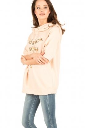 ELISABETTA FRANCHI   Oversized sweater Carla   Nude