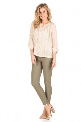 ELISABETTA FRANCHI | Skinny pantalon Felicia | khaki