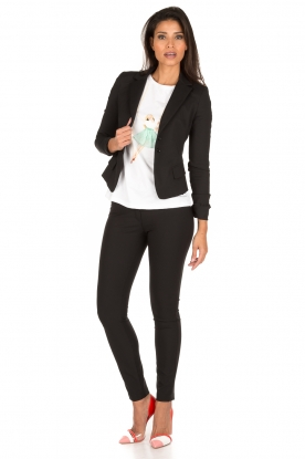 ELISABETTA FRANCHI | Skinny pantalon Felicia | zwart