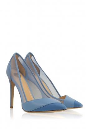 ELISABETTA FRANCHI | Leren pumps Ninfe| blauw