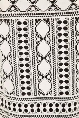 Ana Alcazar | Kanten jurk Lora | zwart-wit