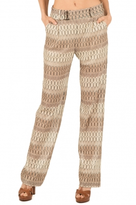 Ana Alcazar | Flared broek Dejano | naturel