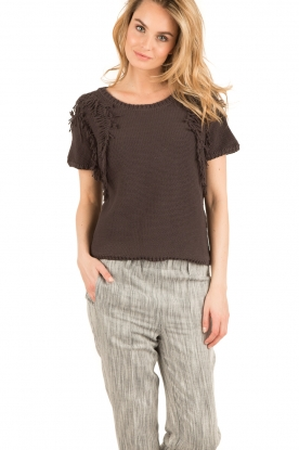 Ruby Tuesday |  Knitted top Uno | dark grey