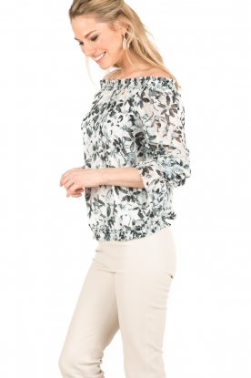 Patrizia Pepe | Off-shoulder blouse Mhairi | print