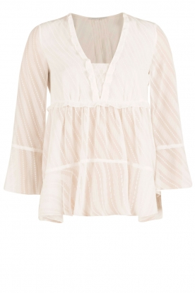 Patrizia Pepe | Semi-sheer blouse Vera | wit