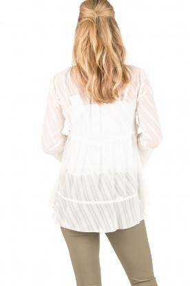 Patrizia Pepe   Semi-sheer blouse Vera   wit