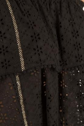 Patrizia Pepe | Off-shoulder top Flora | zwart