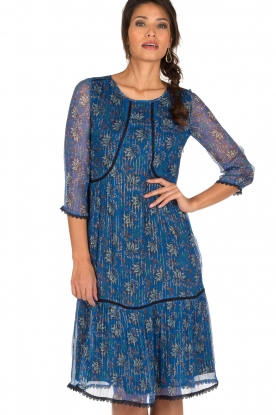 ba&sh | Zijden jurk Ora | blauw