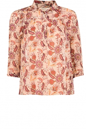 ba&sh |  Semi-sheer blouse Yuppie | print