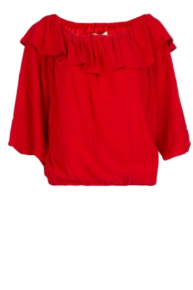 ba&sh |  Off-shoulder top Azar | red