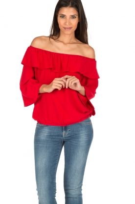 ba&sh | Off-shoulder top Azar | rood