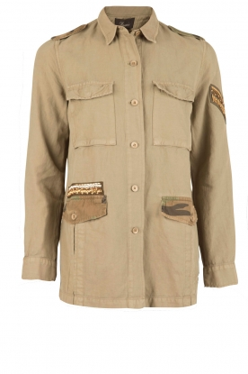 MASONS | Cargo jacket met patches Faro | khaki