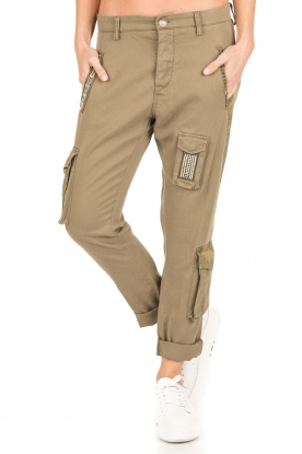 MASONS | Girlfriend cargo broek met patches Chile | khaki