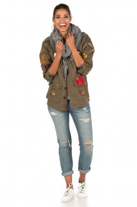 Leon & Harper | Jas met patches Vibe | khaki groen