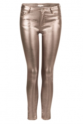 Slim fit broek Luana | metallic