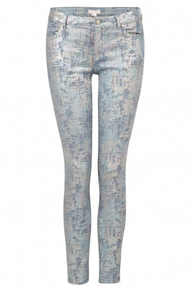 Hoss Intropia | Slim fit broek Alanza | blauw/metallic