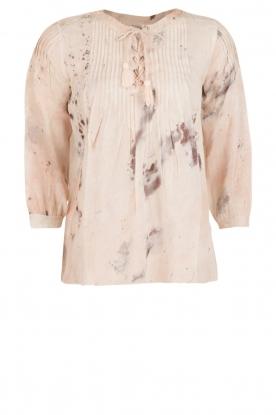 Hoss Intropia   Lace-up blouse Rosanna   roze