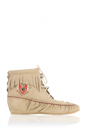 Hoss Intropia |  Leather moccasins Lino | beige
