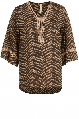 BEACHGOLD |  Tunic blouse Cruz | brown