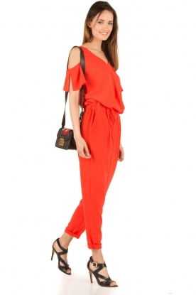 Aaiko | Off-shoulder jumpsuit Paili | rood