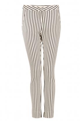 Aaiko | Pantalon Sarene | zwartwit