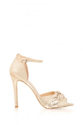 Morobé |  Leather pumps Elodie | gold