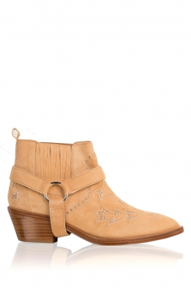 Morobé |  Suede ankle boots Vienne | beige