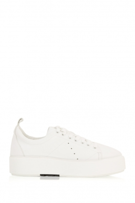 Morobé |  Leather platform sneakers Cannes | white