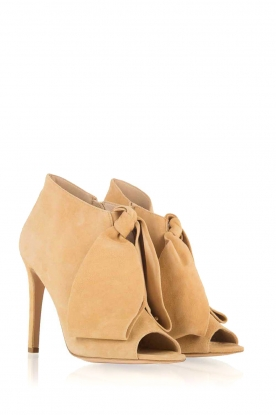 Morobé | Suéde peep toes Axcelle | beige