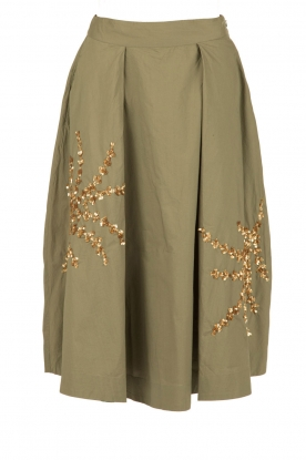 Essentiel Antwerp |  Midi skirt Norala | army green