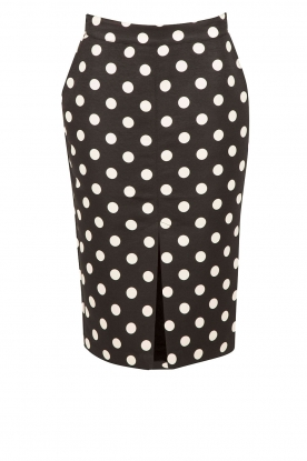 Essentiel Antwerp |  Polkadot pencil skirt Nevea | black &  white