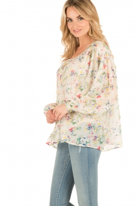Mes Demoiselles | Semi-sheer blouse Ashton | print