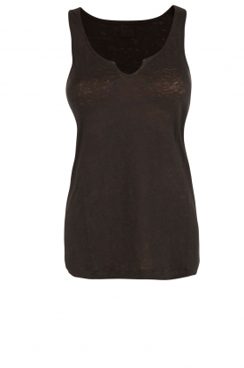 BLAUMAX |  Linen tank top Madrid | black