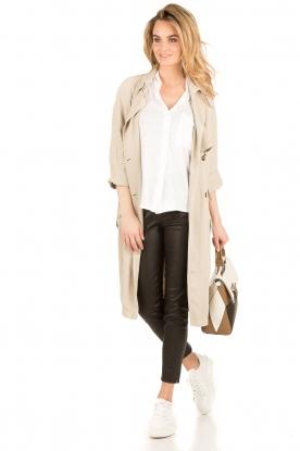 BLAUMAX | Linnen blouse Columbia | wit