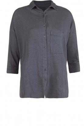 BLAUMAX | Linnen blouse Columbia | blauw