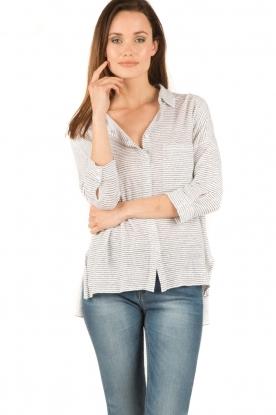 BLAUMAX | Linnen blouse Columbia Fine Stripe | strepen