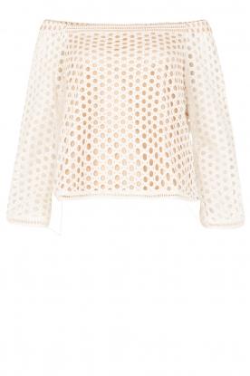 NIKKIE | Off-shoulder blouse Rona Bardot | wit