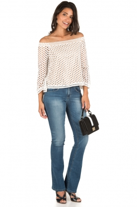 NIKKIE | Off-shoulder blouse Rona Bardot | wit