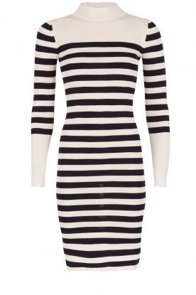NIKKIE |  Turtleneck dress Joyce Ls | dark blue & white