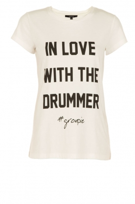 NIKKIE |  T-shirt In Love With The Drummer | white